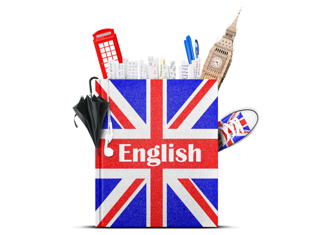 ksiazka jezyka angielskiego z atrybutami angli